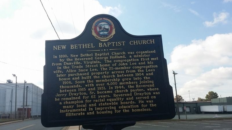 New Bethel Baptist Church Marker image. Click for full size.