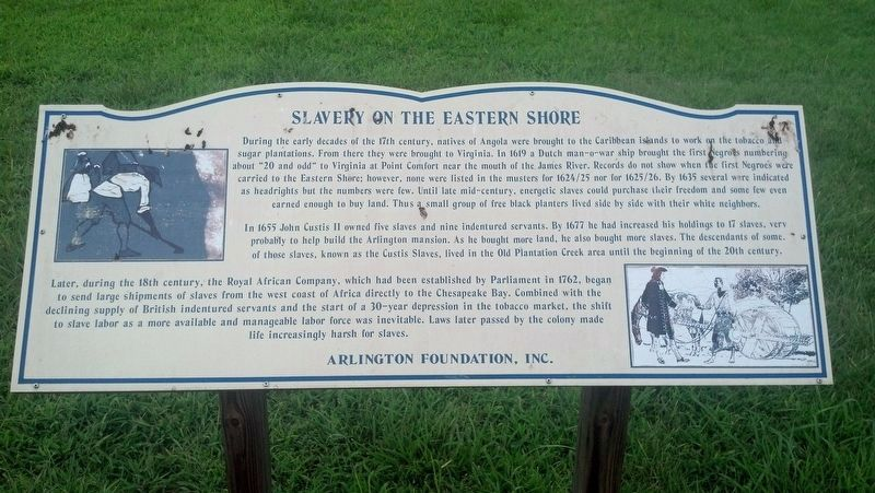 Slavery on the Eastern Shore Marker image. Click for full size.