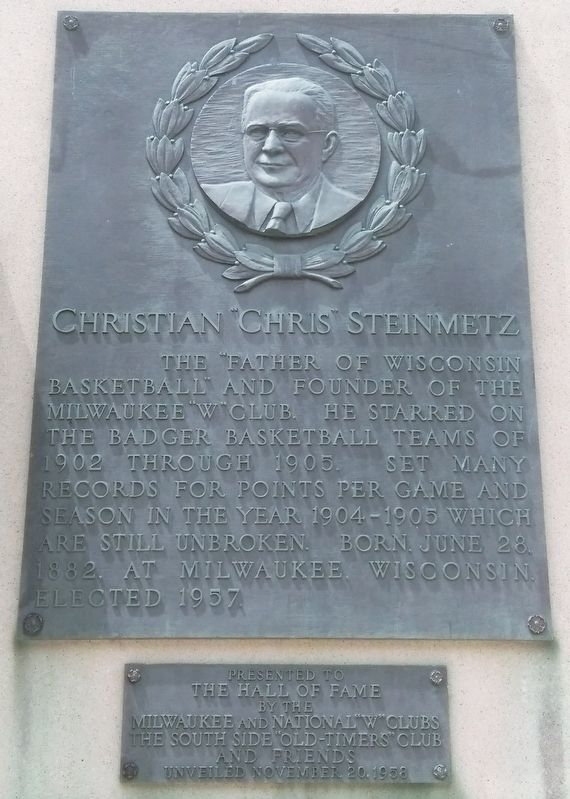 "Christian ""Chris"" Steinmetz Marker image. Click for full size."