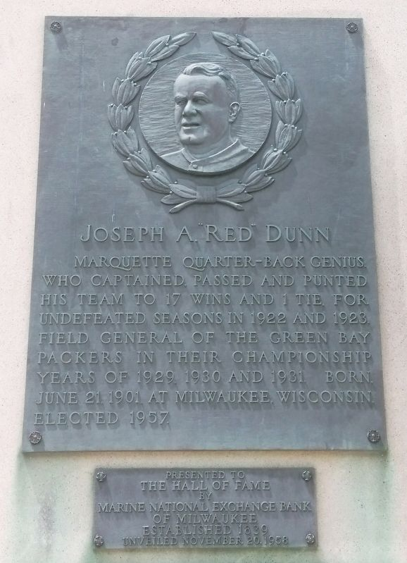 "Joseph A. ""Red"" Dunn Marker image. Click for full size."