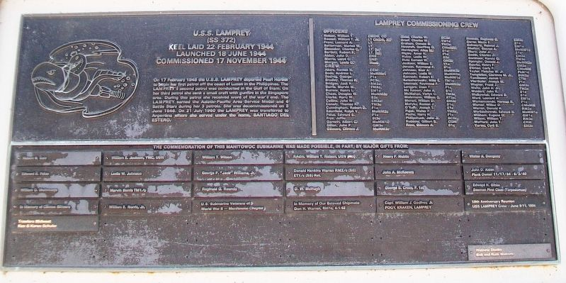 U.S.S. Lamprey (SS 372) Marker image. Click for full size.