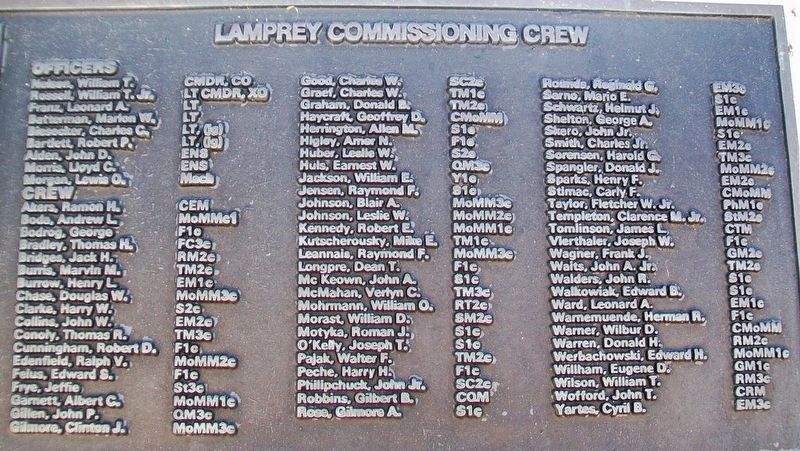 U.S.S. Lamprey (SS 372) Crew image. Click for full size.