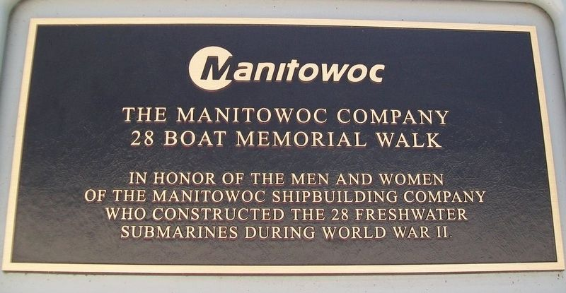 The Manitowoc Company 28 Boat Memorial Walk image. Click for full size.