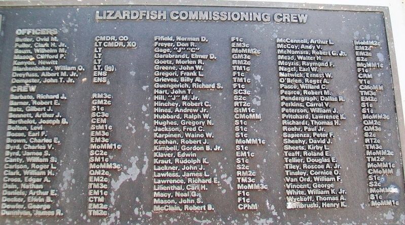 U.S.S. Lizardfish (SS 373) Crew image. Click for full size.