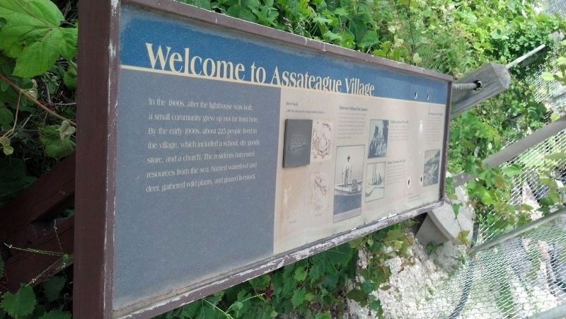 Welcome to Assateague Village Marker image. Click for full size.