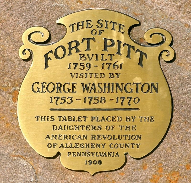 The Site of Fort Pitt Marker image. Click for full size.