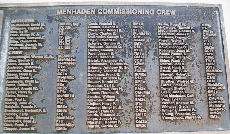 U.S.S. Menhaden (SS 377) Crew image. Click for full size.