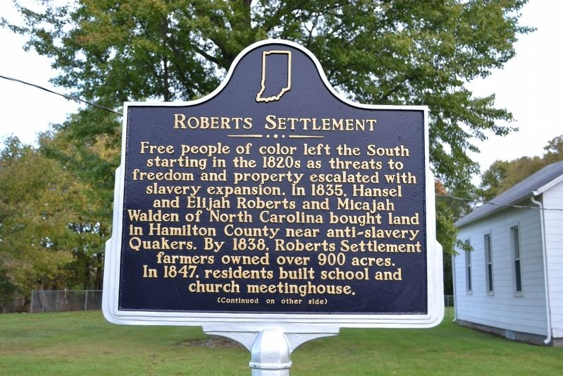 Roberts Settlement Marker image. Click for full size.