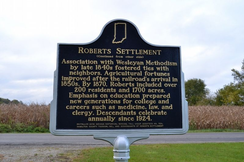 Roberts Settlement Marker image, Touch for more information