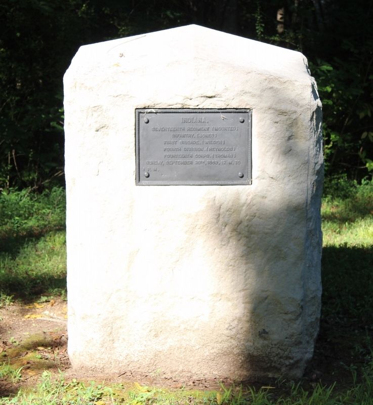 17th Indiana (Mounted) Infantry Marker image. Click for full size.