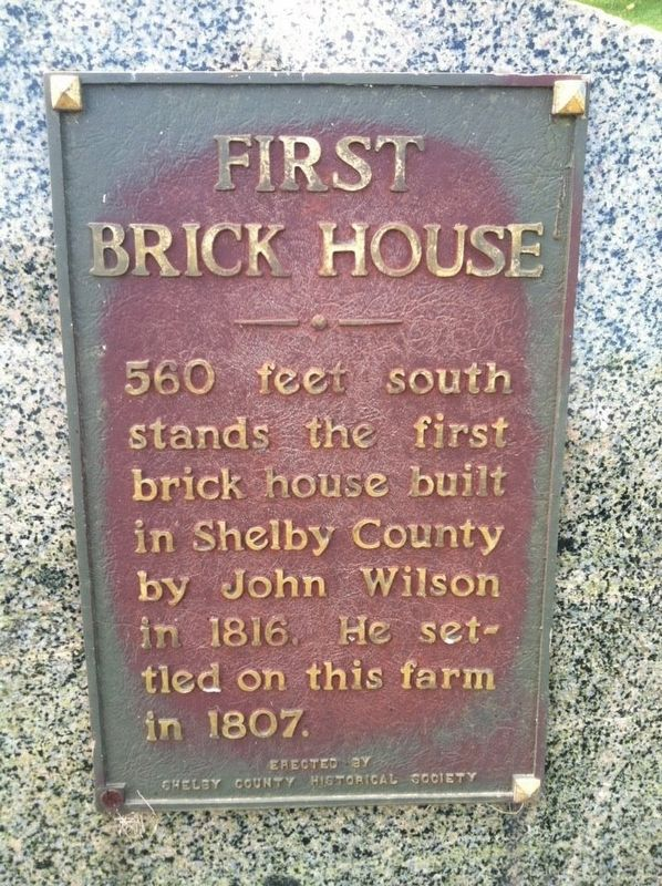 First Brick House Marker image. Click for full size.