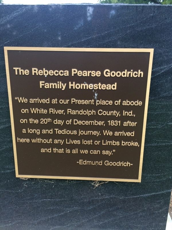 The Rebecca Pearse Goodrich Family Homestead Marker image. Click for full size.