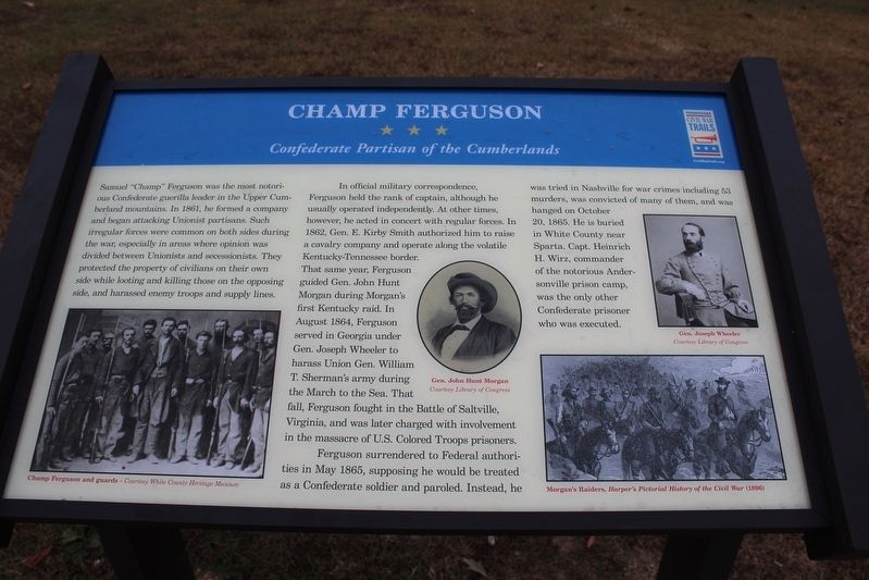 Champ Ferguson Marker image. Click for full size.