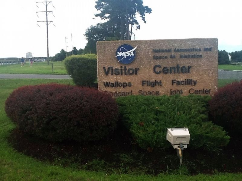Welcome to the NASA Visitor Center Marker image. Click for full size.