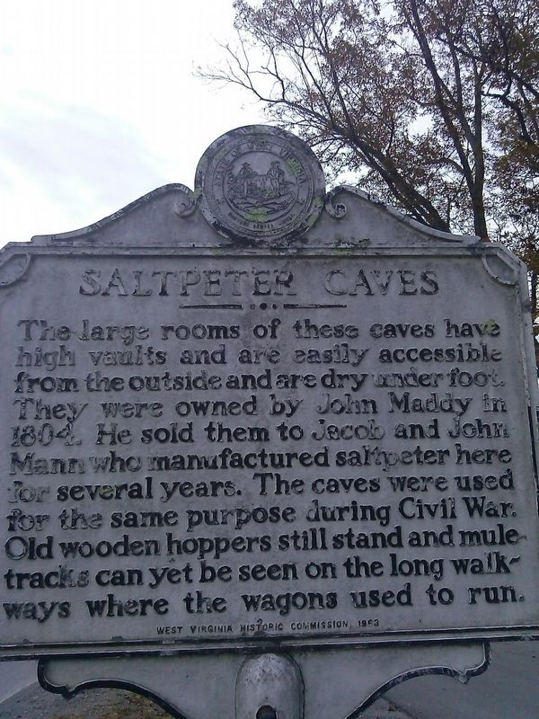 saltpeter caves Marker image. Click for full size.