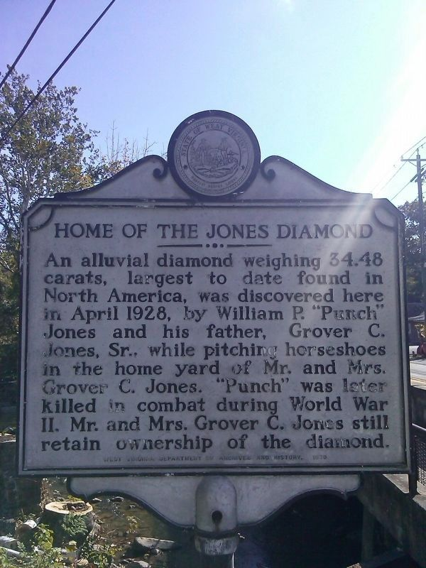 Home of the Jones Diamond Marker image. Click for full size.