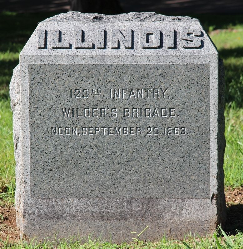 123rd Illinois Infantry Marker image. Click for full size.
