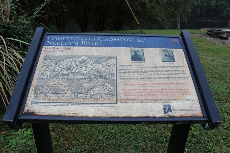 Confederate Crossings at Neeley's Ferry Marker image. Click for full size.