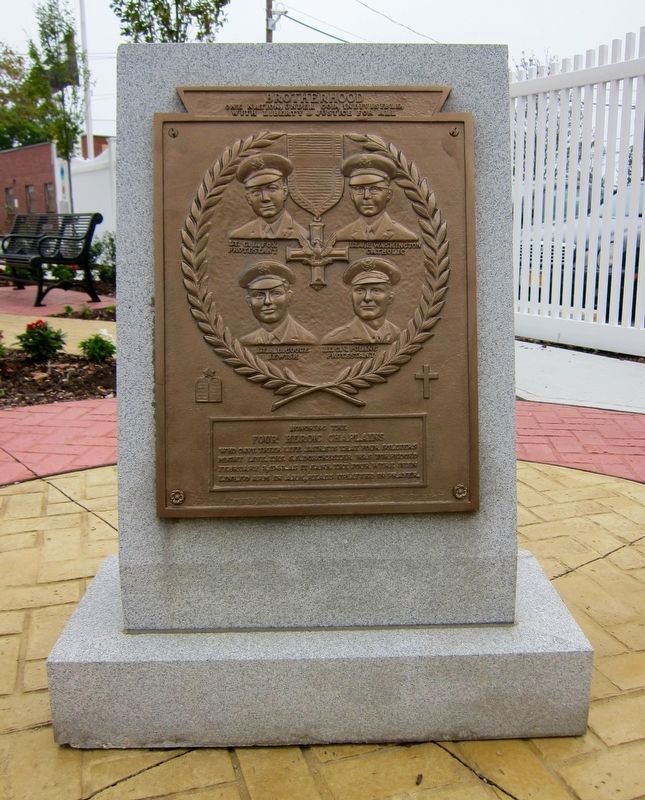 Four Chaplains Memorial Marker image. Click for full size.