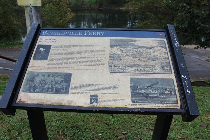 Burkesville Ferry Marker image. Click for full size.
