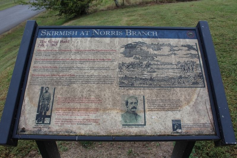 Skirmish at Norris Branch Marker image. Click for full size.