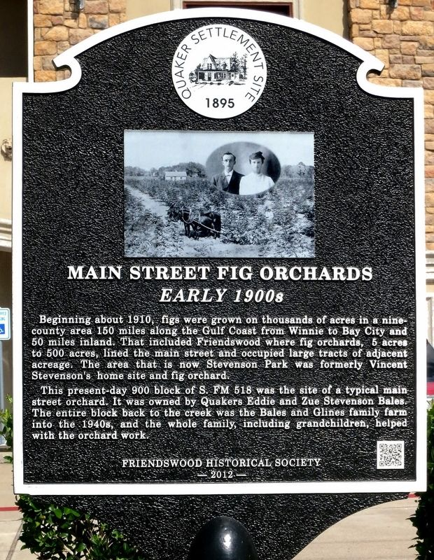 Main Street Fig Orchards Marker image. Click for full size.