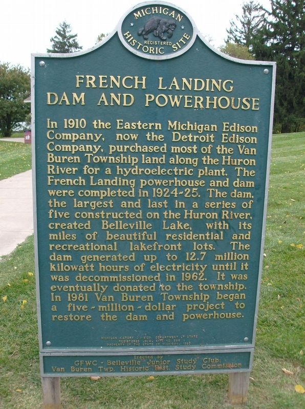 French Landing Dam and Powerhouse Marker image. Click for full size.