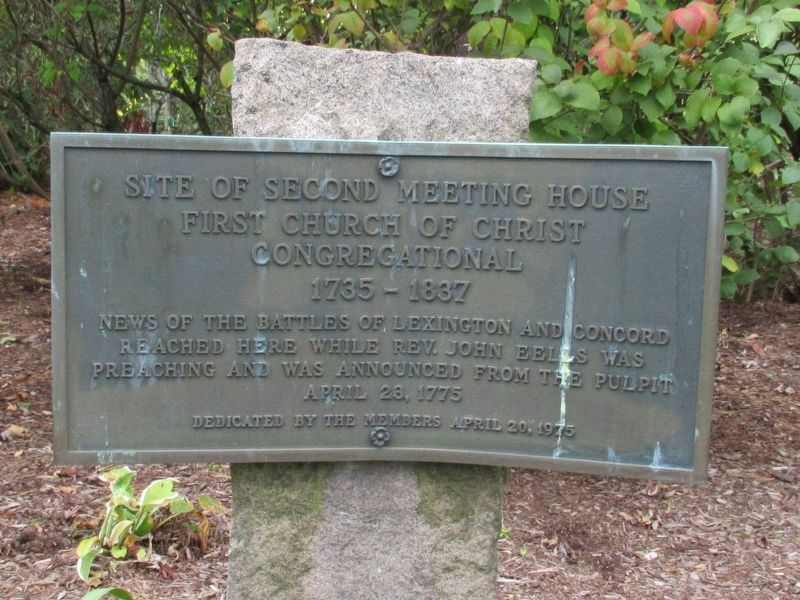 Site of Second Meeting House Marker image. Click for full size.