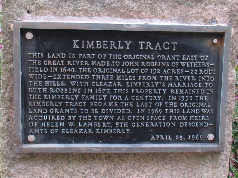 Kimberly Tract Marker image. Click for full size.