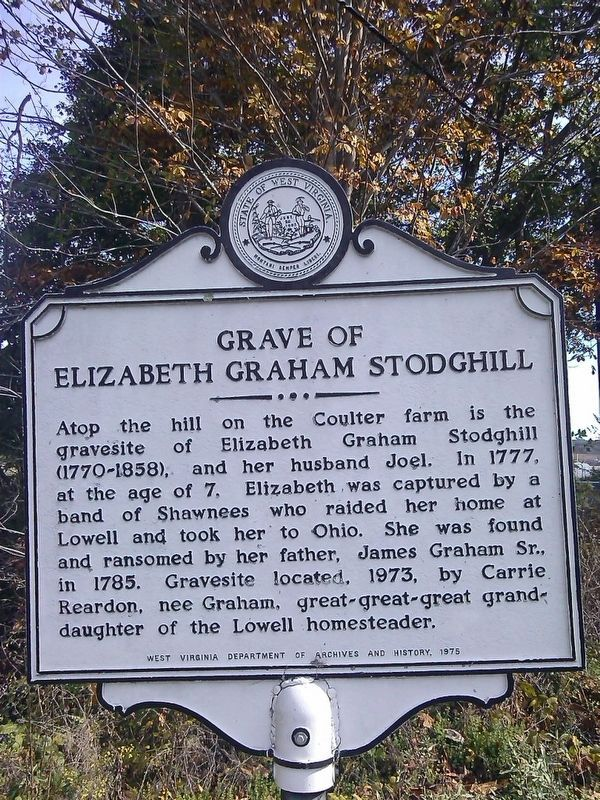 Grave of Elizabeth Graham Stodghill Marker image. Click for full size.