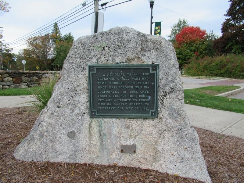 Marlborough Veterans Monument image. Click for full size.