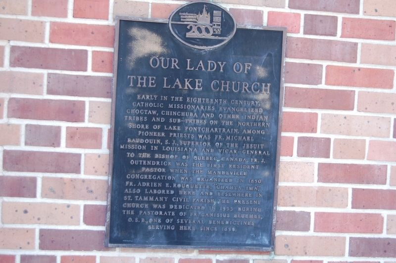 Our Lady Of The Lake Church Marker image. Click for full size.