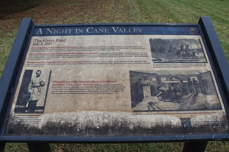 A Night in Cane Valley Marker image. Click for full size.