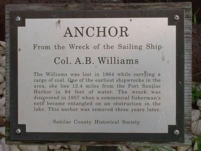 Col. A.B. Williams Anchor Marker image. Click for full size.