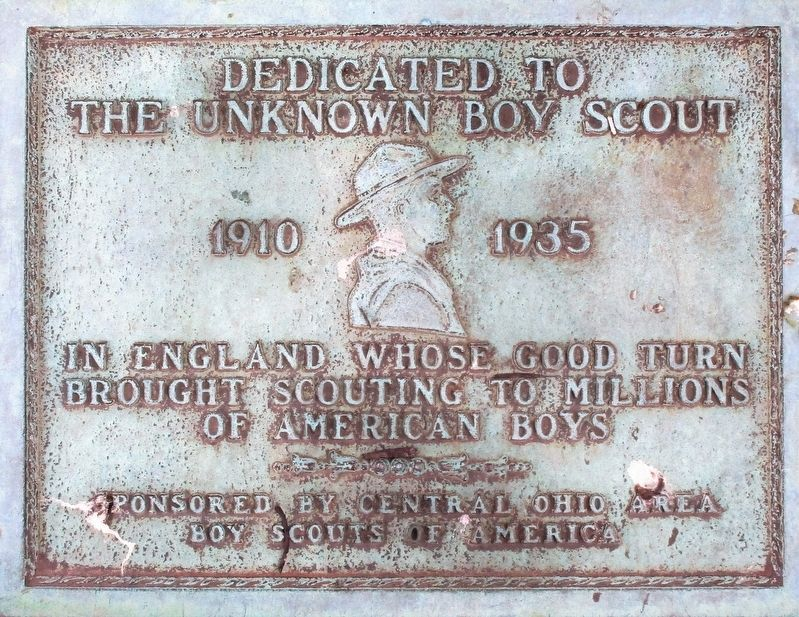 The Unknown Boy Scout Marker image. Click for full size.