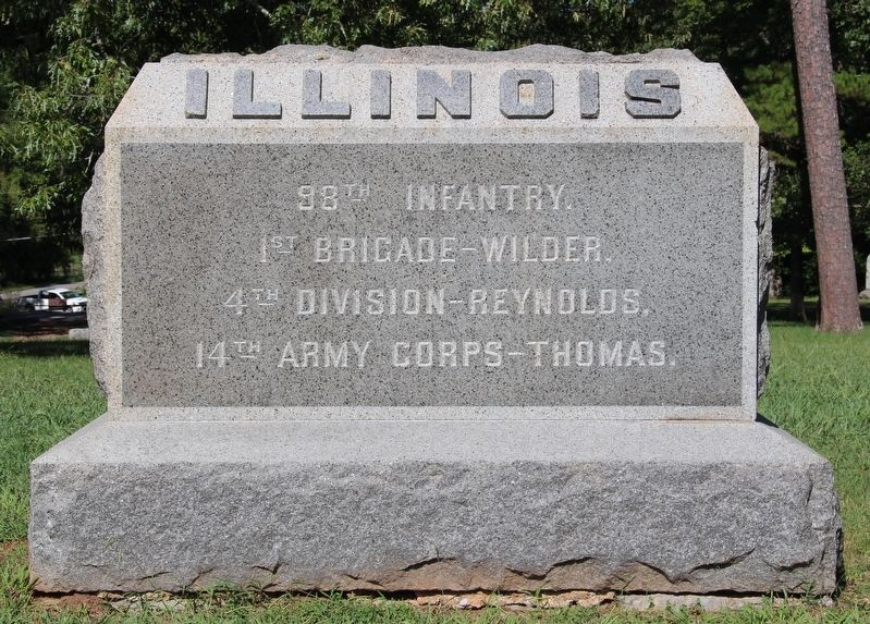 98th Illinois Infantry Marker image. Click for full size.