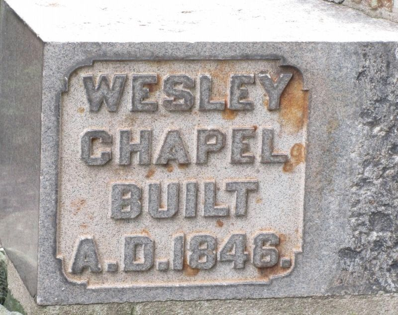 Wesley Chapel Methodist Church Marker image. Click for full size.