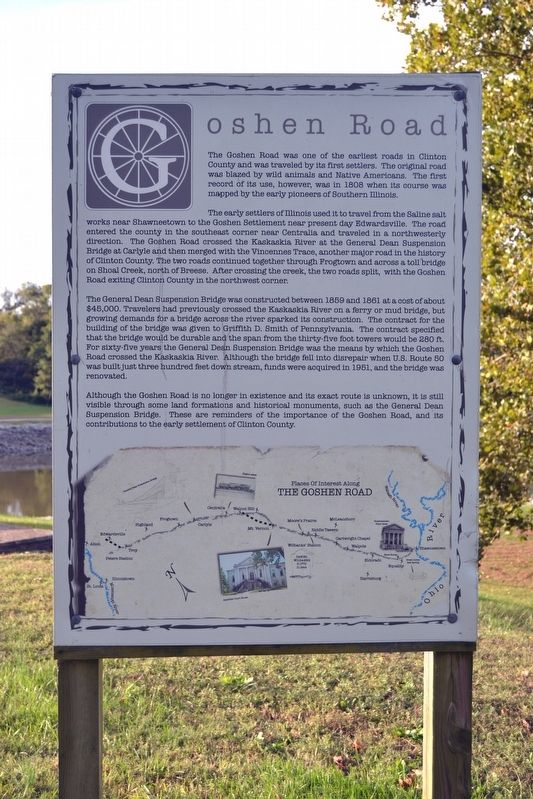 Goshen Road Marker image. Click for full size.