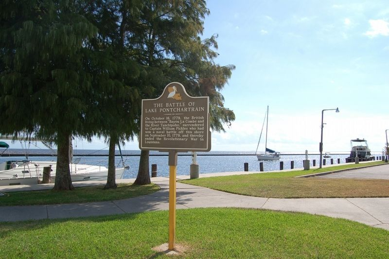 Battle of Lake Pontchartrain Marker image. Click for full size.