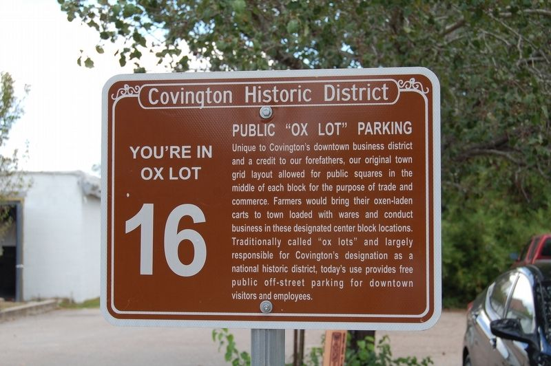 "Public ""Ox Lot"" Parking Marker image. Click for full size."