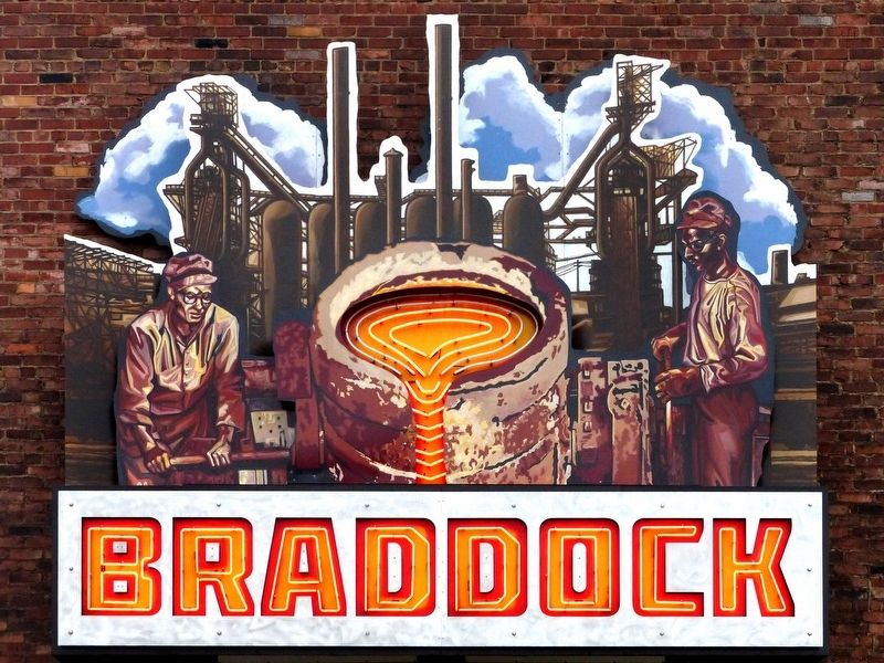 Animated Sign<br>Braddock image. Click for full size.