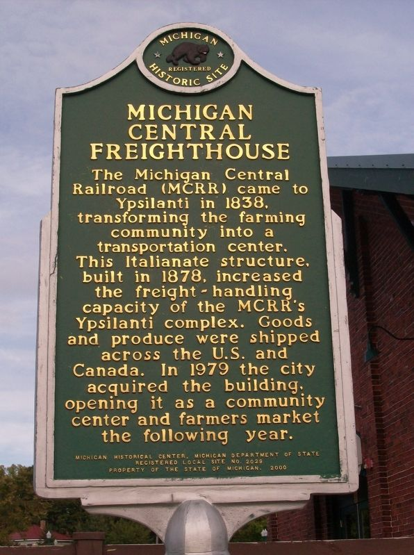 Michigan Central Freighthouse Marker image. Click for full size.