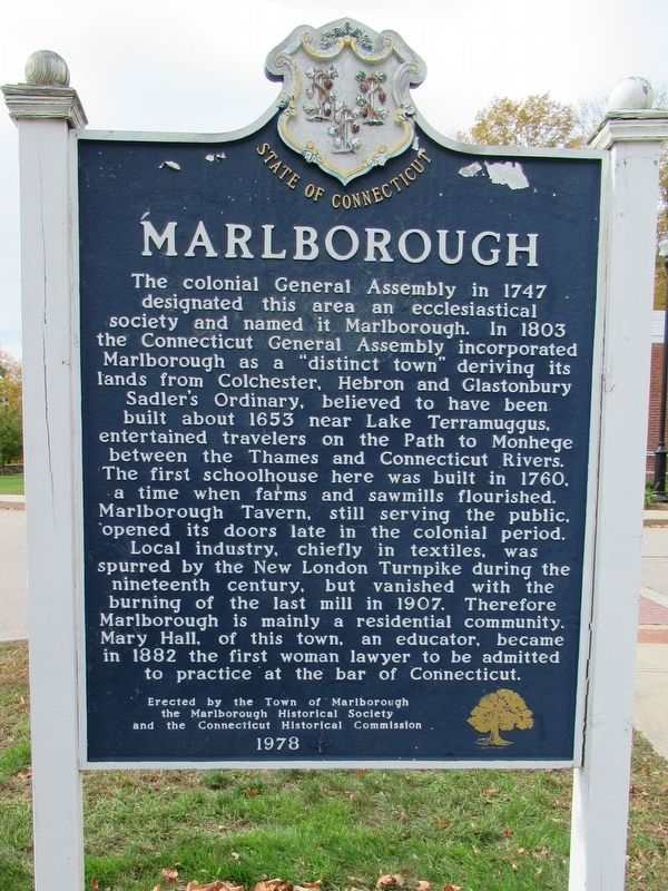 Marlborough Marker image. Click for full size.