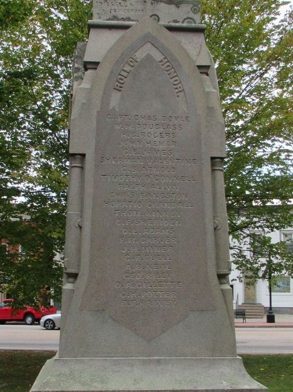 Colchester Soldiers Monument image. Click for full size.