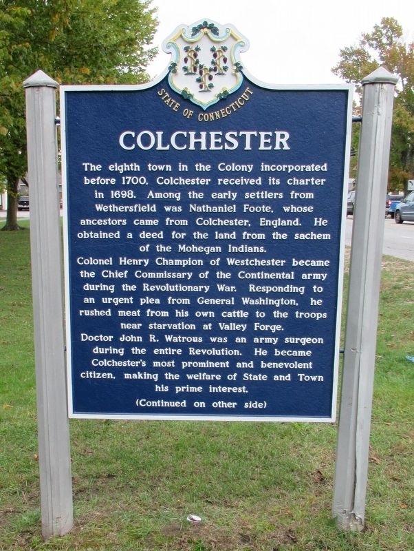 Colchester Marker image. Click for full size.