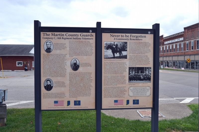 The Martin County Guards / Never to be Forgotten Marker image. Click for full size.