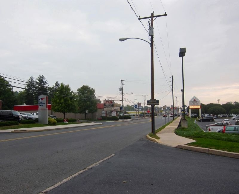 Lemoyne Marker - Wide View, Looking East on Market Street image. Click for full size.