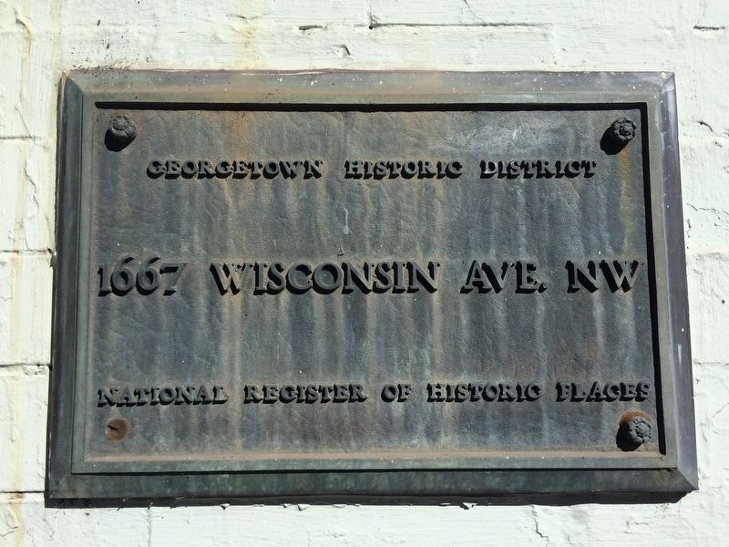 1667 Wisconsin Ave. NW Marker image. Click for full size.