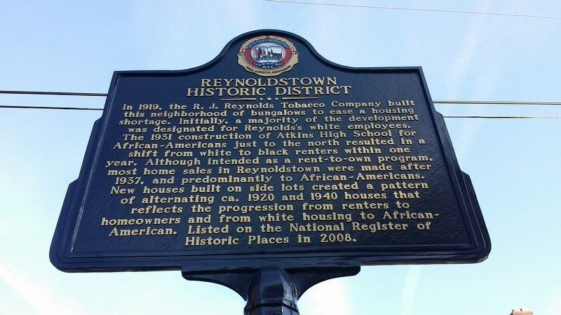 Reynoldstown Historic District Marker image. Click for full size.