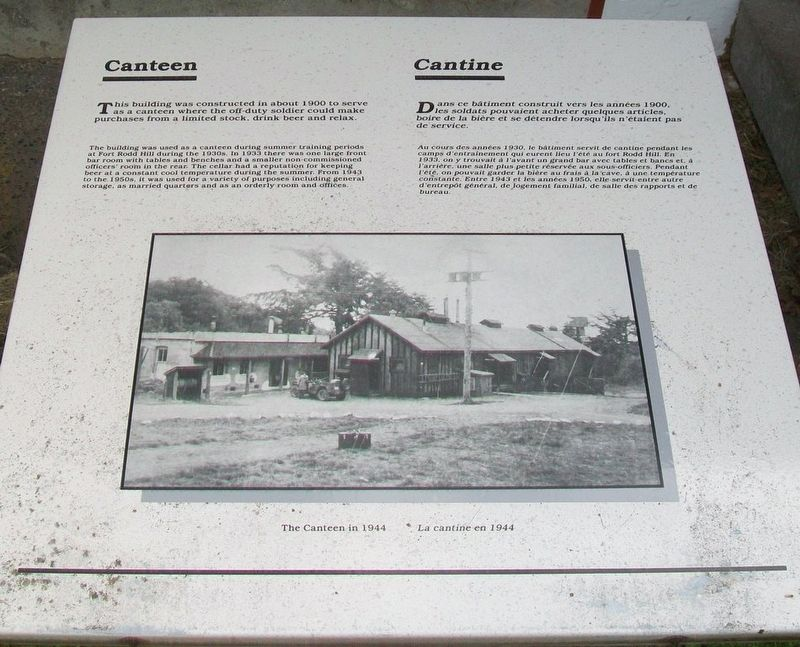 Canteen / Cantine Marker image. Click for full size.